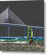 The Wind Surfer Metal Print by David Lee Thompson