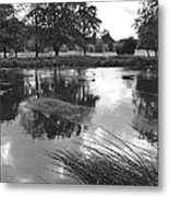 The Wind-swept River Trent At Stapenhill Metal Print
