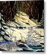 The Winter Trail Metal Print