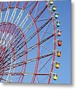 The Wonder Wheel At Odaiba Metal Print