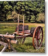 The Wooden Cart Metal Print