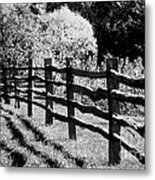 The Wooden Fence Metal Print