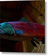 The Wooden Rainbow Trout Metal Print
