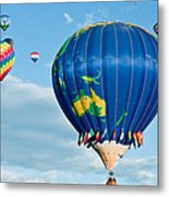 The World Aloft Metal Print