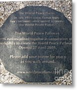 The World Peace Flame Metal Print