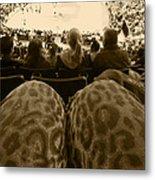 The World Thru Leopard Printed Pants Metal Print
