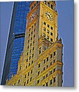 The Wrigley Building Metal Print