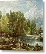 The Young Waltonians - Stratford Mill Metal Print by John Constable