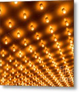Theater Marquee Lights In Rows Metal Print
