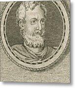 Theophrastus, Ancient Greek Polymath Metal Print