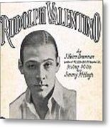 There's A New Star In Heaven Tonight Rudolph Valentino Metal Print