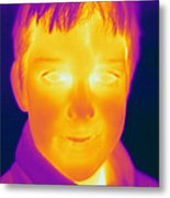 Thermogram Of A Boy Metal Print