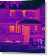 Thermogram Of A Home In Winter Metal Print
