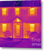 Thermogram Of A House In Winter Metal Print