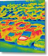 Thermogram Of A Parking Lot Metal Print