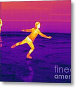 Thermogram Of A Skater Metal Print
