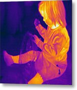 Thermogram Of A Young Girl Metal Print