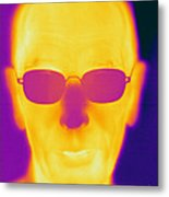 Thermogram Of An Elderly Man Metal Print