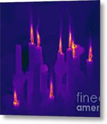 Thermogram Of Candles Metal Print