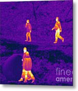 Thermogram Of People Walking Metal Print