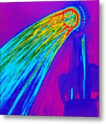 Thermogram Of Water Pouring From A Shower Head Metal Print by Dr. Arthur Tucker