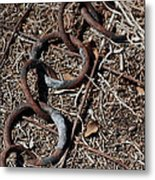 These Rusty Chains Metal Print