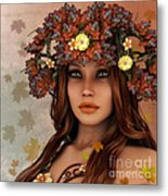 They Call Her Autumn Metal Print