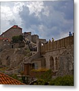 They Walk The Wall In Dubrovnik Metal Print