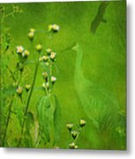 Think Green Metal Print