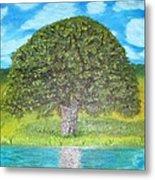 Thinking Tree Metal Print