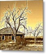 This Old House Fractal Metal Print