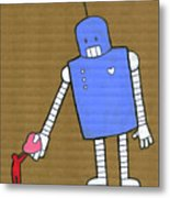 This Robot Has Heart Metal Print by All images © Tyler Garrison, 2009.
