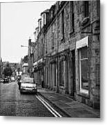 Thistle Street Rows Of Granite Houses And Shops Aberdeen Scotland Uk Metal Print