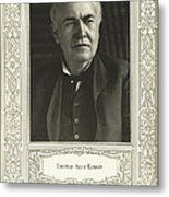 Thomas Edison, American Inventor Metal Print by Science, Industry & Business Librarynew York Public Library