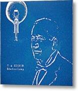 Thomas Edison Lightbulb Patent Artwork Metal Print