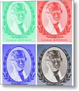 Thomas Jefferson In Negative Colors Metal Print