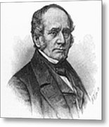 Thomas O. Larkin (1802-1858). American Merchant And California Pioneer. Wood Engraving, 19th Century Metal Print