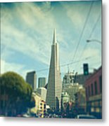 Those Sunny Downtown Days Metal Print