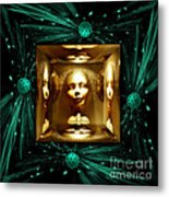 Thoughts Mirror Box Metal Print