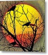 Three Blackbirds Metal Print