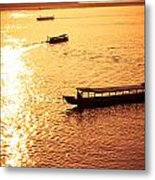 Three Boat Metal Print