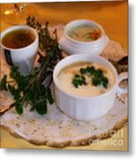 Three Cups Of Soup Metal Print