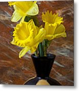 Three Daffodils Metal Print