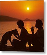 Three Friends On Mykonos Metal Print