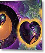 Three Hearts Metal Print