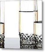 Three Luxury Glasses Metal Print