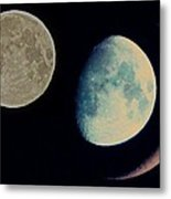 Three Moon Metal Print