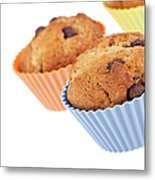 Three Muffins Metal Print by Jane Rix