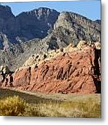 Three Tones Of Mountain Stone Metal Print