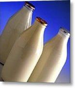 Three Types Of Bottled Milk Metal Print by Steve Horrell